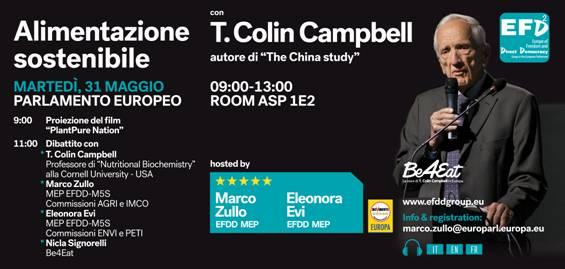 Marco Zullo M5S Europa Campbell The China Study alimentazione sostenibile ambiente salute