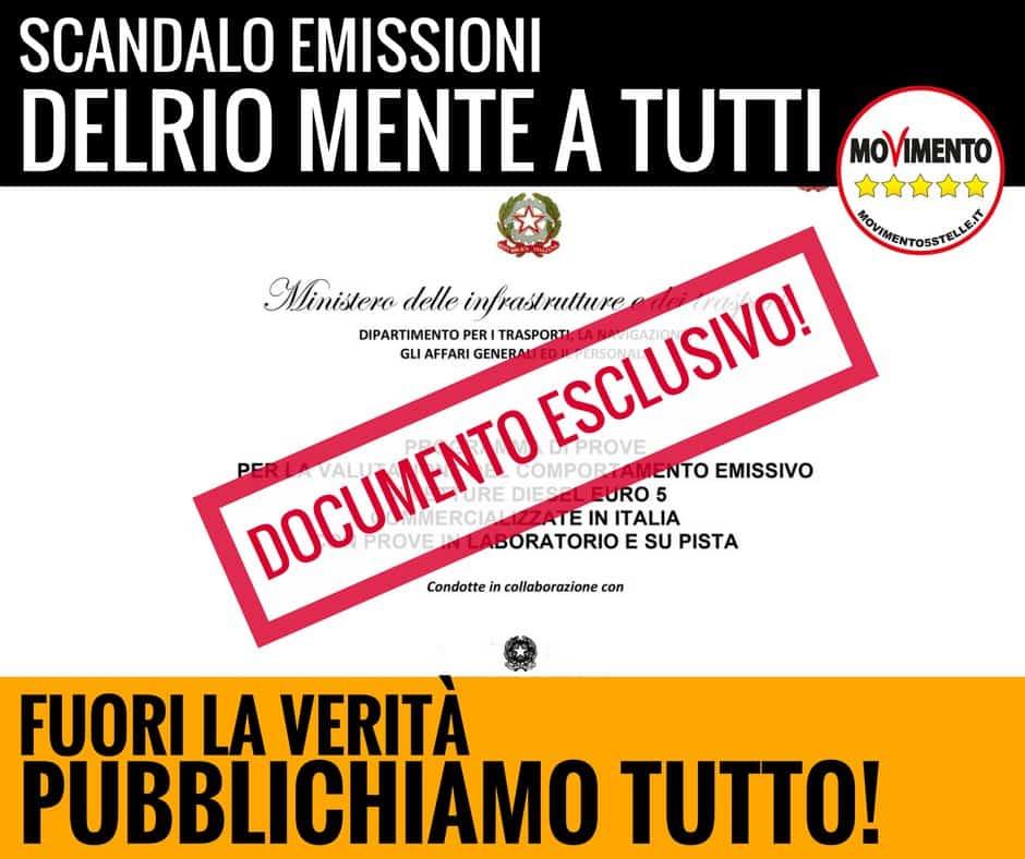 Marco Zullo M5S Europa dieselgate fiat delrio