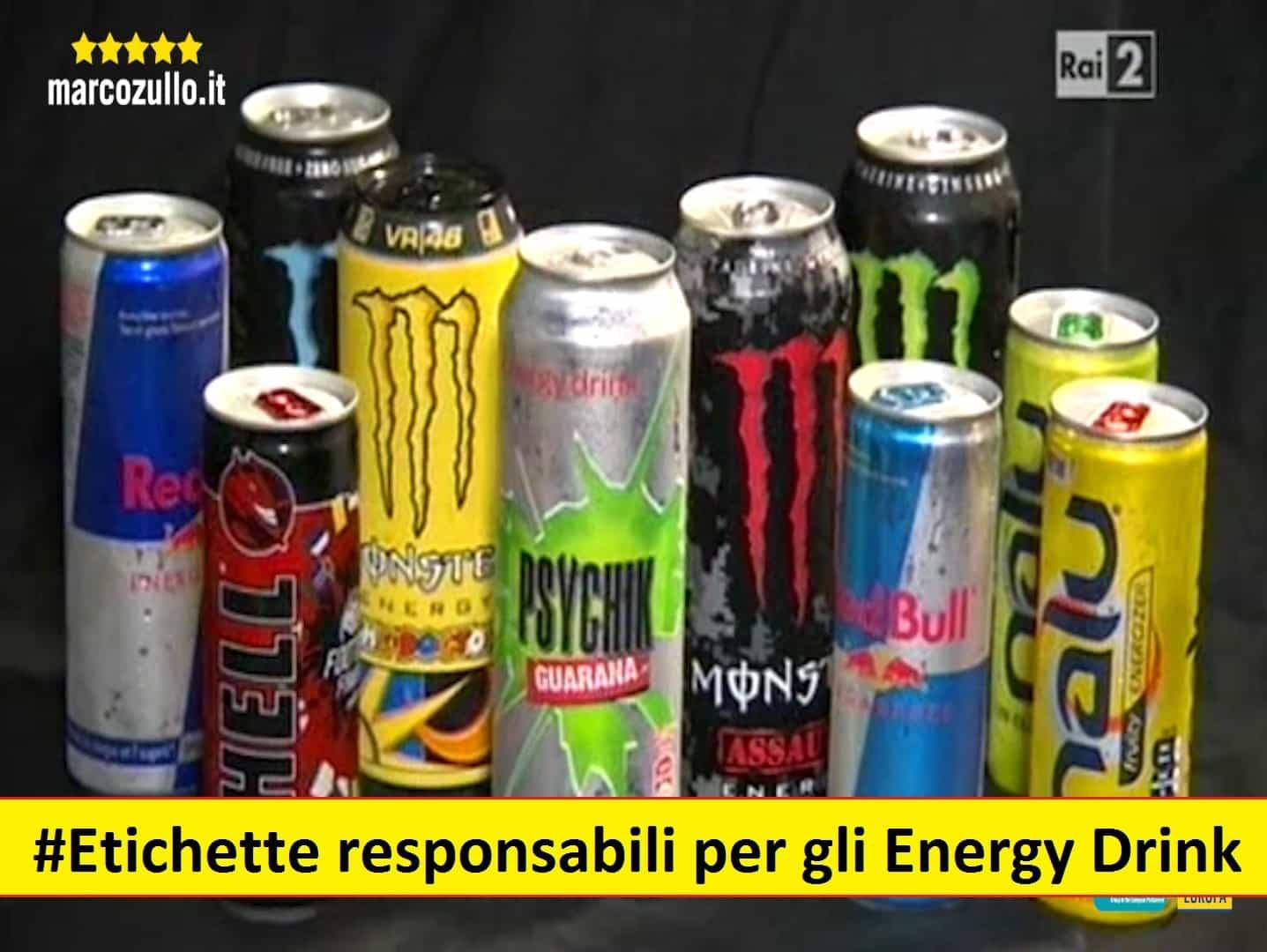Marco Zullo M5S Europa energy drink bevande energetiche etichette