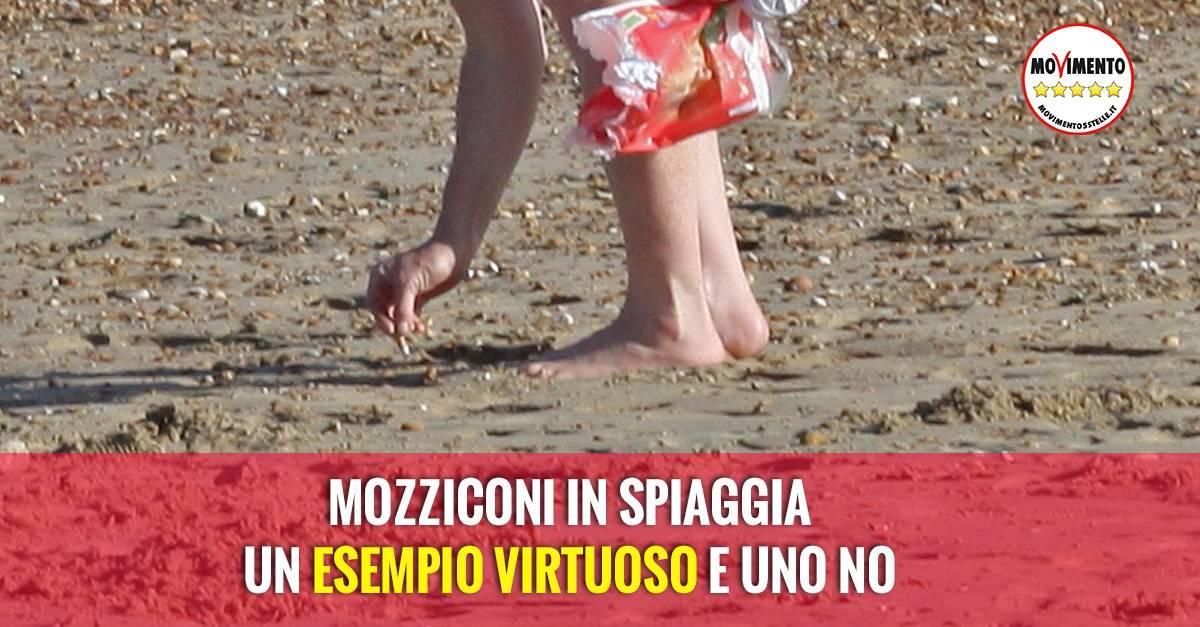 Mozziconi in spiaggia immagine